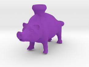 Keychain Boar Vessel, 600-500 BC, Etruscan in Purple Processed Versatile Plastic