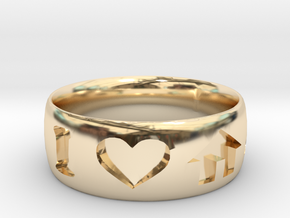 I Heart House Music Ring in 14K Yellow Gold: 6 / 51.5