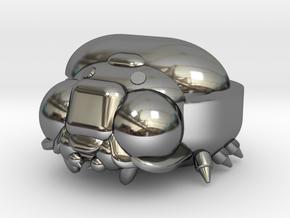 Bug Case in Fine Detail Polished Silver: Medium