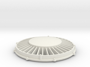 "1"" scale 4.75"" gauge F7 Diesel 36"" Fan in White Natural Versatile Plastic"