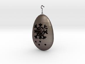 雪花 in Polished Bronzed-Silver Steel