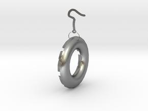 水波.stl in Natural Silver: Small
