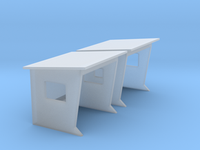 1/87 French bus shelter / abribus béton in Smooth Fine Detail Plastic