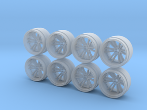 SV35 9-0 Hot Wheels Rims in Smoothest Fine Detail Plastic