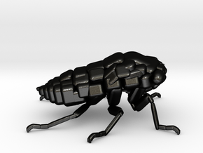 Cicada! The Somewhat Smaller Square-ish Sculpture in Matte Black Steel