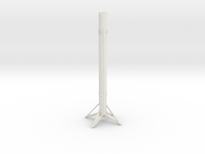 Falcon 9 1st Stage Landed in 1:500 in White Natural Versatile Plastic