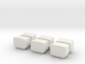 Printle Thing Old TV Bulk x 6 - 1/24 in White Natural Versatile Plastic