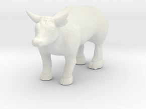 S Scale Ox in White Natural Versatile Plastic