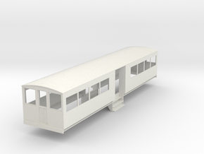 o-32-bermuda-railway-toast-rack-coach in White Natural Versatile Plastic