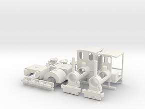 Kerr Stuart wren class locomotive kit in White Natural Versatile Plastic