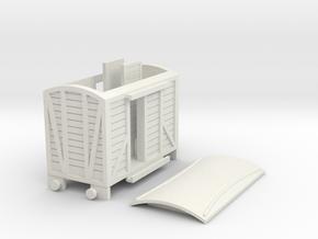 Narrow gauge goods van type3 in White Natural Versatile Plastic