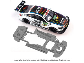 S10-ST4 Chassis for Carrera BMW M4 DTM SSD/STD in Black Natural Versatile Plastic