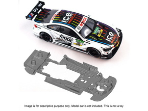 S10-ST1 Chassis for Carrera BMW M4 DTM STD/LMP in Black Natural Versatile Plastic