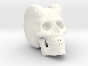 Carved Demon Skull in White Processed Versatile Plastic