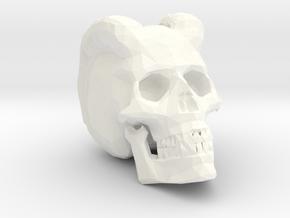 Carved Demon Skull in White Processed Versatile Plastic