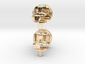 Piston Cufflinks in 14K Yellow Gold