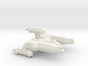 3788 Scale Lyran War Destroyer Scout (DWS) CVN in White Natural Versatile Plastic
