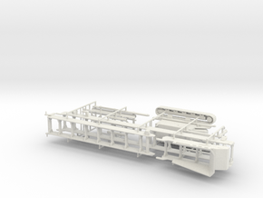 1/64th Tracked folding Conveyor Belt in White Natural Versatile Plastic