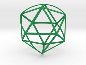 Walsh Icosahedron in Green Processed Versatile Plastic