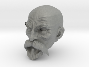 Bald Head with facial hair 1 in Gray Professional Plastic