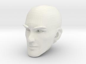 Bald Head 1 in White Natural Versatile Plastic