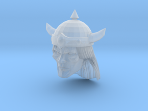 Barbarian Head with helmet 1 in Smooth Fine Detail Plastic