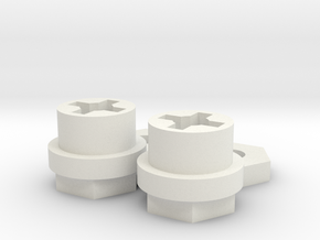 Marui Galaxy/Hunter Hex adapter set in White Natural Versatile Plastic