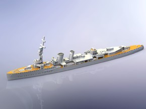 HMS Caledon Light Cruiser 1917 1/2400 in Smoothest Fine Detail Plastic