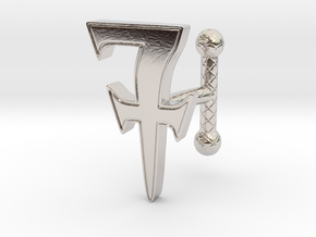 Cufflink_R_001 in Rhodium Plated Brass