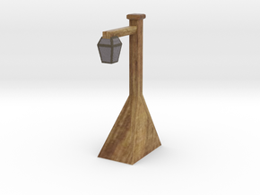 Miniature street lamp in Natural Full Color Sandstone