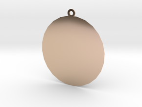 Sun in 14k Rose Gold Plated Brass: Small