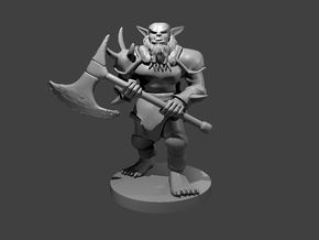 Bugbear New with Axe in Smooth Fine Detail Plastic
