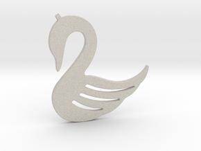 Swan Necklace-26 in Natural Sandstone