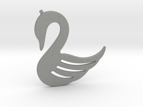 Swan Necklace-26 in Gray PA12