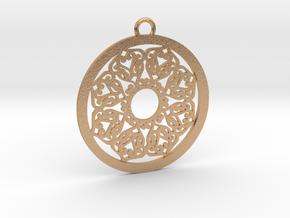 Ornamental pendant no.2 in Natural Bronze