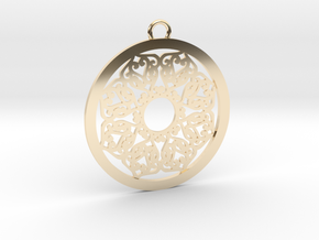 Ornamental pendant no.2 in 14k Gold Plated Brass