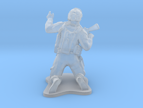 Modern Soldier on Knees, scale: 1:72 in Smooth Fine Detail Plastic