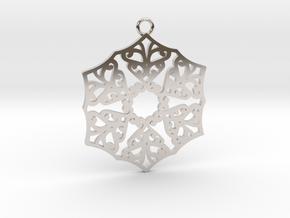 Ornamental pendant no.3 in Platinum