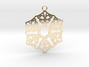 Ornamental pendant no.3 in 14K Yellow Gold