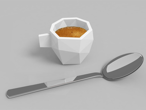 Poly Espresso 2 in White Processed Versatile Plastic