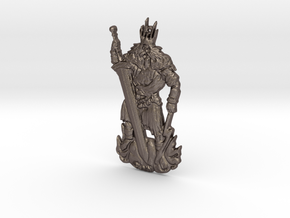 Gwyn, Lord of Sunlight - Keychain in Polished Bronzed-Silver Steel