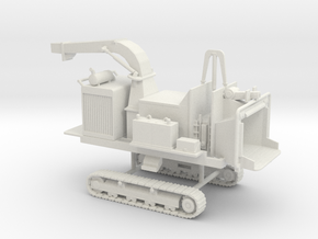 1/64th Tracked Mobile Chipper in White Natural Versatile Plastic