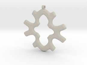 Geometric Necklace-34 in Natural Sandstone