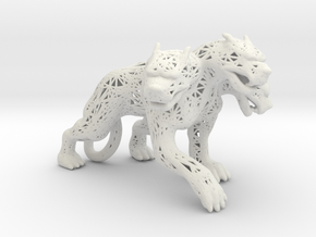 Cerberus Wireframe in White Natural Versatile Plastic