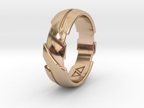 GD Ring - Edge Size:US 8 5/8 in 14k Rose Gold Plated Brass