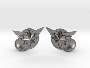 Captain Marvel Cufflinks in Polished Nickel Steel