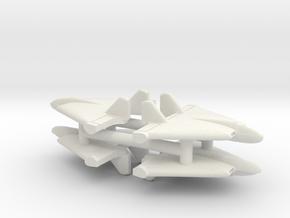 (1:350) (x4) Lippisch Li P.13b in White Natural Versatile Plastic