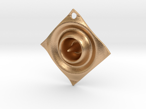 Cosine Ripple Earring or pendant in Natural Bronze