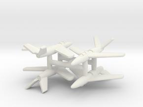 (1:350)(x4) Messerschmitt Me P.1110/II in White Natural Versatile Plastic