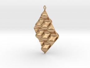 Sine Wave product Earring in Natural Bronze